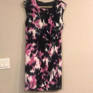 SOHO Pink Black and White printed dress size 14.